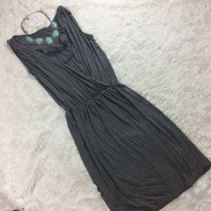 Ann Taylor LOFT Faux Wrap Cowl-Neck Dress